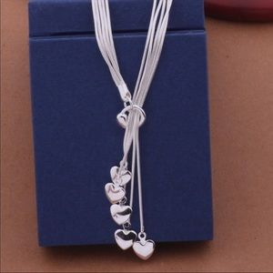 925 Silver Heart Layered Necklace